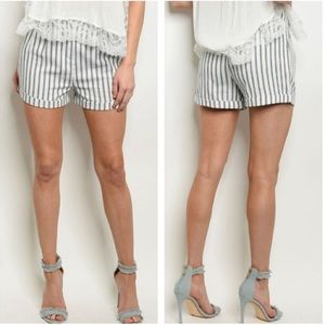 NWT Navy And White Striped Shorts